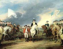 北美独立战争主题油画