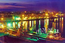 美丽的湛江港夜色