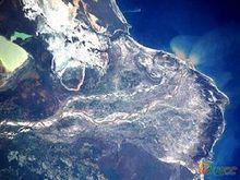 布拉茨克水库卫星图