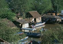 湄公河流域的老挝民居
