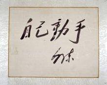 """毛泽东""""自己动手""""、""""丰衣足食""""题词"""