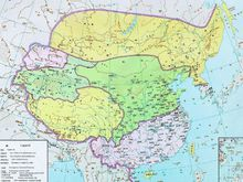 东晋和前秦对峙图