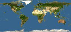 熊狸世界分布图