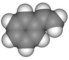 苯乙烯分子比例模型