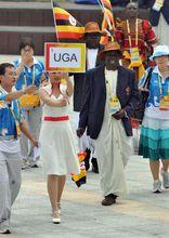 乌干达代表团奥运村升旗仪式