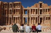 塞卜拉泰考古遗址内的大剧院遗址