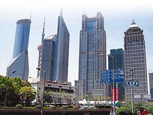 跨国公司云集的上海CBD区