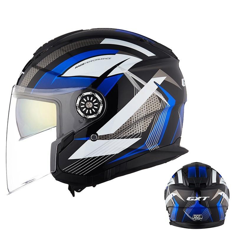 12日0点、双12预告: GXT 双镜片 半覆式头盔 送内置蓝牙耳机